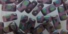#05.02 - 20 Stück Two-Hole Brick 4x8mm - amethyst matt vitrail p