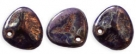 #03a 50 Stck. Rose Petals 8*7mm -  tanzanite bronze picasso