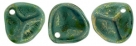 #04a 50 Stck. Rose Petals 8*7mm - Persian Turquoise - Bronze Picasso