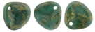 #04b 50 Stck. Rose Petals 8*7mm -  persian turquoise copper picasso