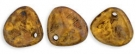 #06b 50 Stck. Rose Petals 8*7mm -  yellow copper picasso