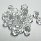 10 Rouch Cut Briolette 5*7mm crystal