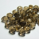 10 Rouch Cut Briolette 5*7mm smoky topaz