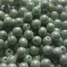 #09 50 Stück Perlen rund Ø 5 mm - opak weiß olivecoating