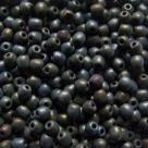 #13b - 50 Stück Perlen rund - jet hematit matt iris - Ø 3 mm