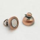 1 Kugel-Magnet-Verschluss Ø 10x17 mm Red Copper