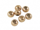 50 Stck. Metallperlen - Ø ca. 3mm - rosé goldfarben