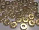 10 Stck. Metallscheiben - Ø ca. 6*1 mm - lt goldfarben