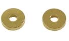 10 Stck. Metallscheiben - Ø ca. 10*3 mm - lt goldfarben