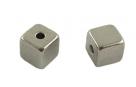 10 Stck. MetallWÜRFEL - ca. 5*5mm - altsilberfarben
