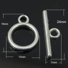 Toggleverschluss - 18x17 mm platinumfarben