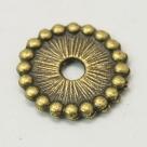 10 Stck. Metallscheiben - Ø ca. 12*2 mm - antik bronzefarben