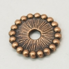 10 Stck. Metallscheiben - Ø ca. 12*2 mm - antik kupferfarben