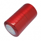 1 Rolle Satinband - rot - 12 mm