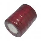 1 Rolle Organzaband - weinrot - 20 mm