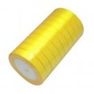 1 Rolle Satinband - gelb - 16 mm