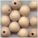10 Stück Holzkugeln ca. 12 mm