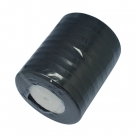 1 Rolle Organzaband - schwarz - 10 mm