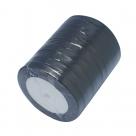 1 Rolle Satinband - schwarz - 10 mm