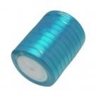 1 Rolle Satinband - türkis - 06 mm