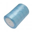 1 Rolle Satinband - hellblau - 25 mm