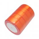 1 Rolle Satinband - orange - 25 mm