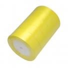 1 Rolle Satinband - gelb - 25 mm