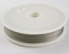 1 Rolle Tiger Tail nylonummantelt 0,35 mm - silvergrey - 50m
