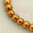 #01 50 Stück - 4,0 mm Glaswachsperlen - goldkupfer