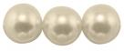 #03 50 Stück - 4,0 mm Glaswachsperlen - ivory I