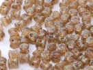 #25 - 25 Stck. PRECIOSA Pellet™ 4x6 mm amethyst travertin
