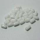 #27 - 50 Stück Two-Hole Bricks 3x6mm - opak white