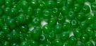 #06a - 50 Stück Perlen rund - opal apple green - Ø 3 mm