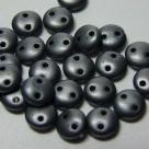 #16 - 50 Stück Two-Hole Lentils 6mm - hematit matt