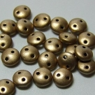 #17 - 50 Stück Two-Hole Lentils 6mm - met. flax matte