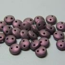 #28 - 50 Stück Two-Hole Lentils 6mm - met. suede - lt pink