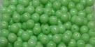 #79 1 Strang - 4,0 mm Glasperlen - lt green paint coating (±120 Stück)