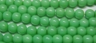 #36 1 Strang Perlen rund - white lt green painted - Ø 6 mm