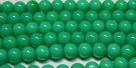 #35 1 Strang Perlen rund - white green turqu. painted - Ø 6 mm