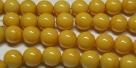 #04 1 Strang Perlen rund - white mustard painted - Ø 8 mm