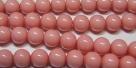 #09 1 Strang Perlen rund - white coral pink painted - Ø 8 mm