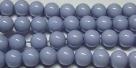 #10 1 Strang Perlen rund - white lavender painted - Ø 8 mm