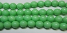#12 1 Strang Perlen rund - white lt green painted - Ø 8 mm