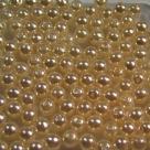 #08 50 Stück - 4,0 mm Glaswachsperlen - vanilla