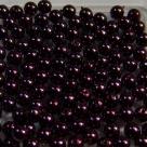 #09 50 Stück - 4,0 mm Glaswachsperlen - plum