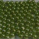 #10 50 Stück - 4,0 mm Glaswachsperlen - olive