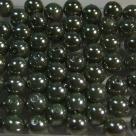#13 20 Stück - 6,0 mm Glaswachsperlen - dk olivine