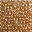 #14 50 Stück - 4,0 mm Glaswachsperlen - gold