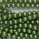 #19 1 Strang - 6,0 mm Glaswachsperlen - apple green