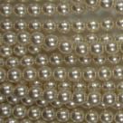 #23 1 Strang - 6,0 mm Glaswachsperlen - cream